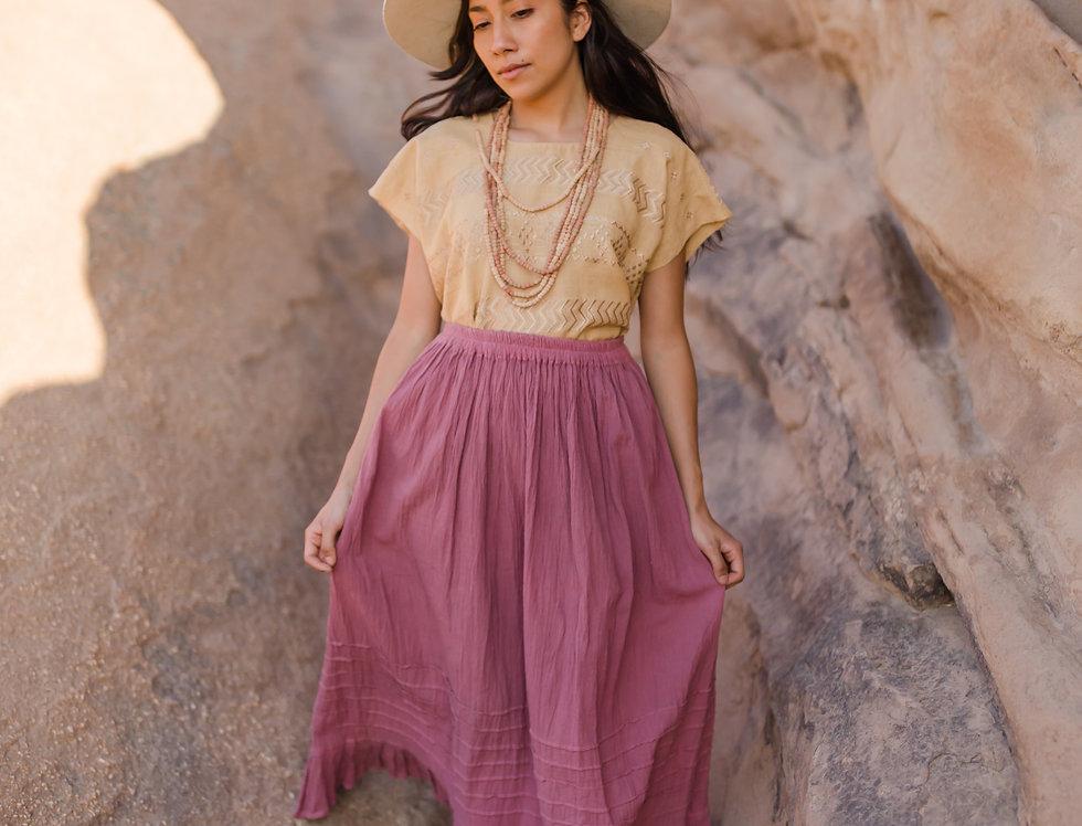 Maiz Algodon Skirt ( Rosa Palo)