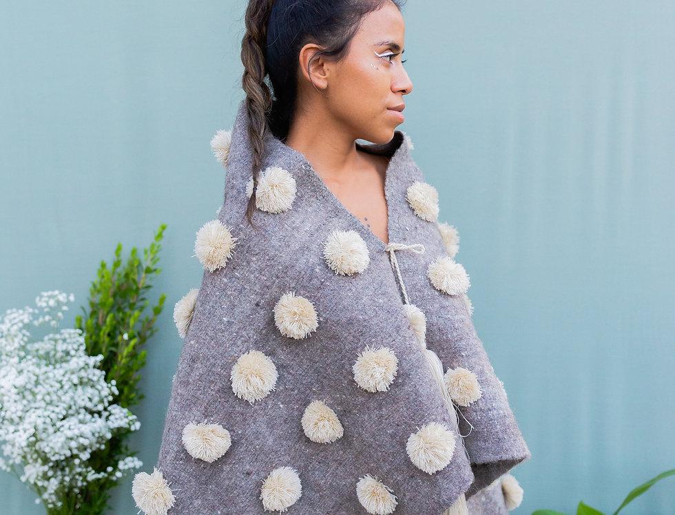 Wool Cape Grey/Natural