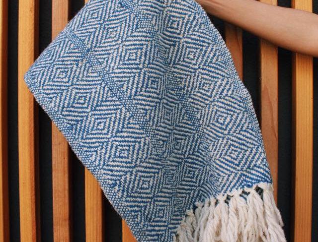 Wool Rebozo (Azul Bajito )