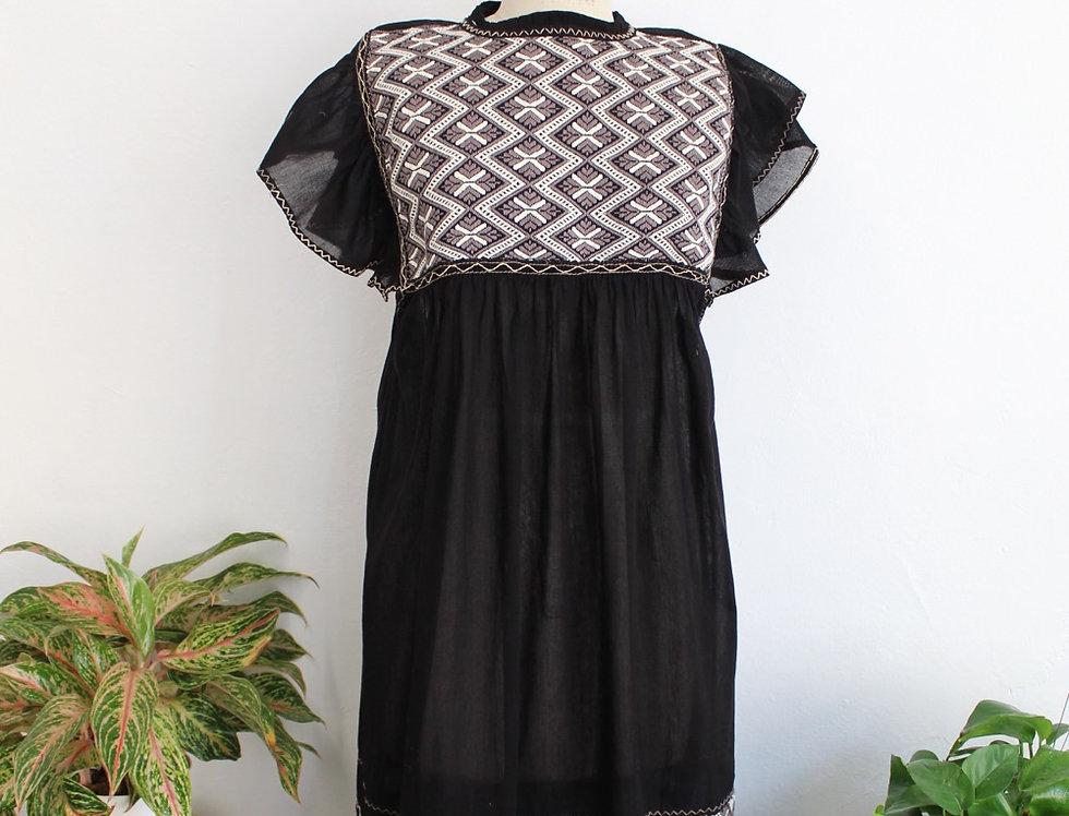 Raiz Dress ( Natural/Black)