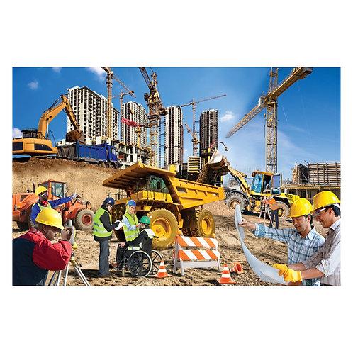Construction Zone Floor Puzzle