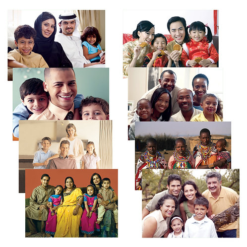 Families Around the World Poster Set