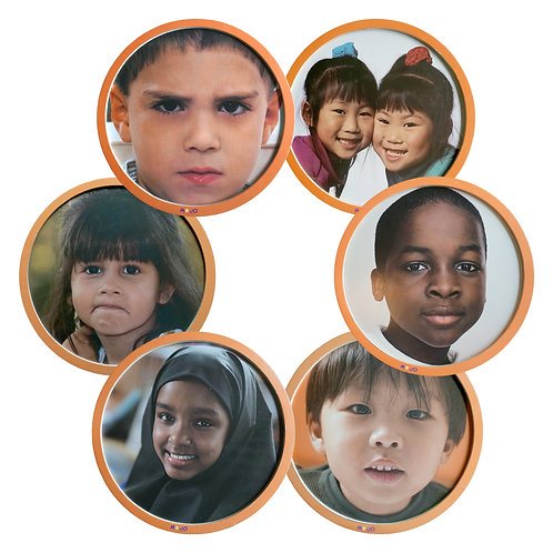 Children's Faces from Around the World Wooden 6-Puzzle Set