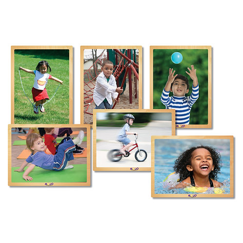 Kids in Motion Wooden 6-Puzzle Set