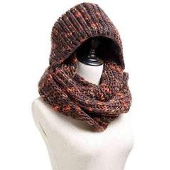 Hoodie Knit Infinity Scarf