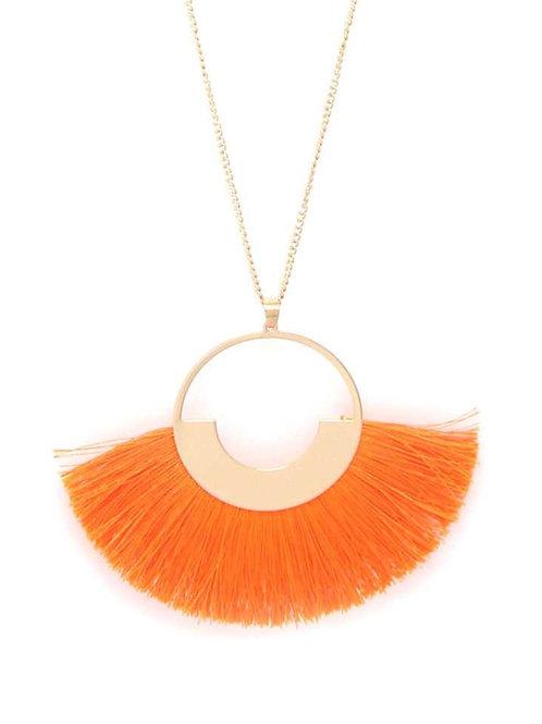 Fan Tassel Pendant Necklace