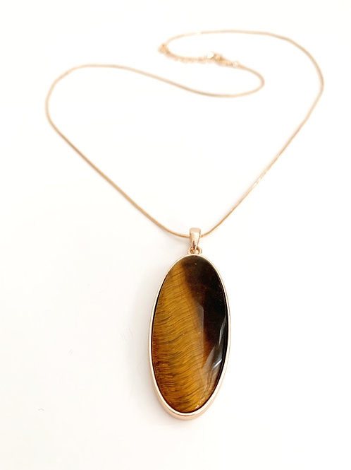 Brown Semi Precious Stone Necklace