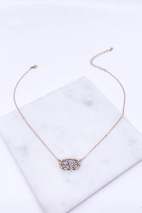 Crushed Stone Short Necklace