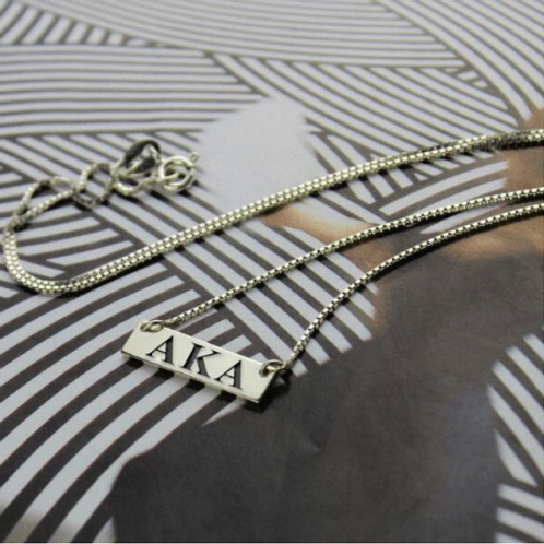 Stainless Sorority Pendant Necklace