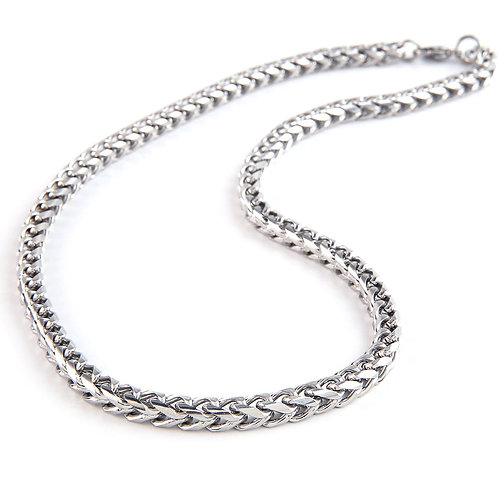 Silver Stainless Chain Necklace