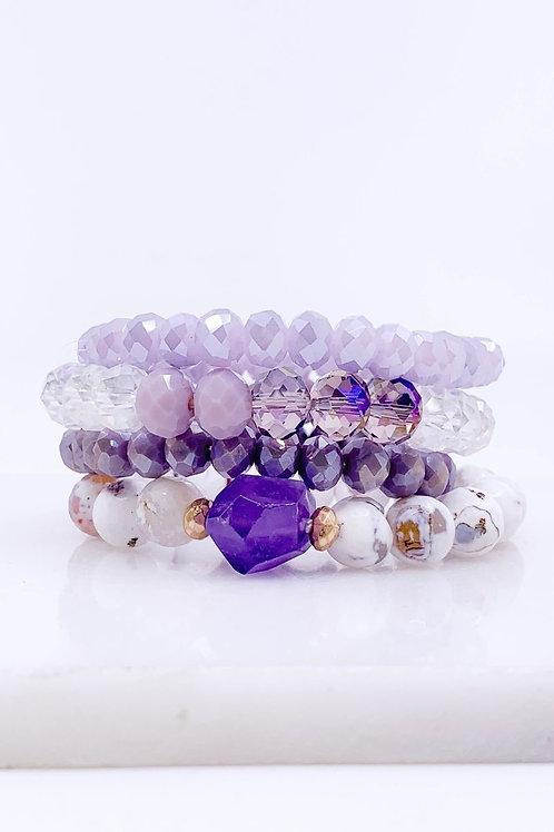 Glass Beaded 4 Strand Bracelet