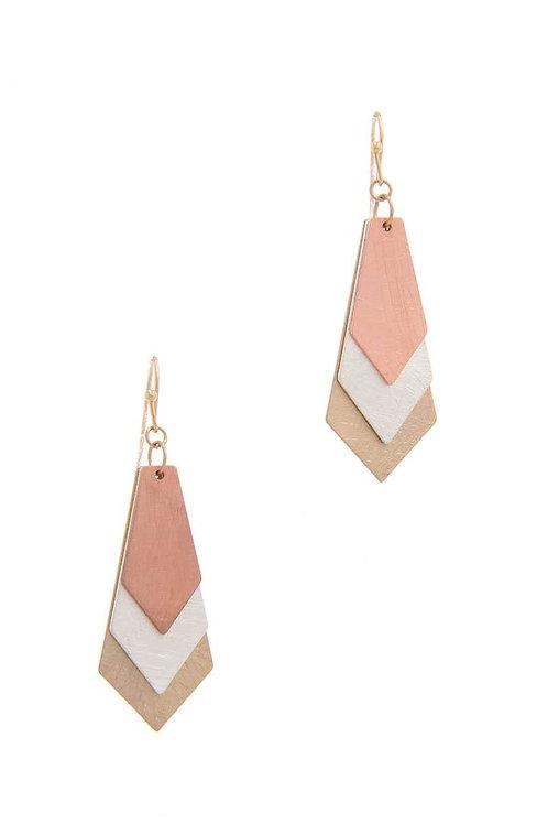Brass Metal Drop Earrings