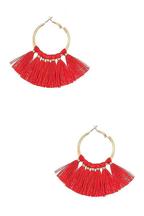 Round Tassel Earrings