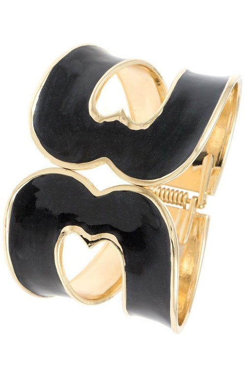 Cut Out Hinge Bangle Bracelet