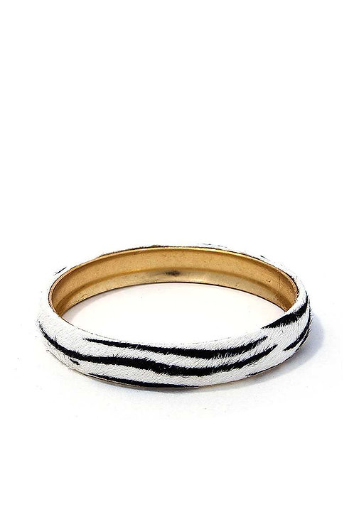 Metal Animal Print Bangle Bracelet