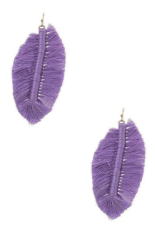 Fringe Leaf Drop Earrings