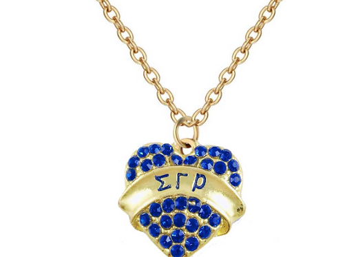 SGR Heart Shape Necklace Set