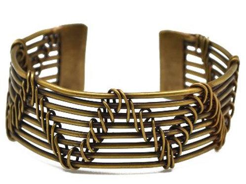 Brass Cut Bracelet