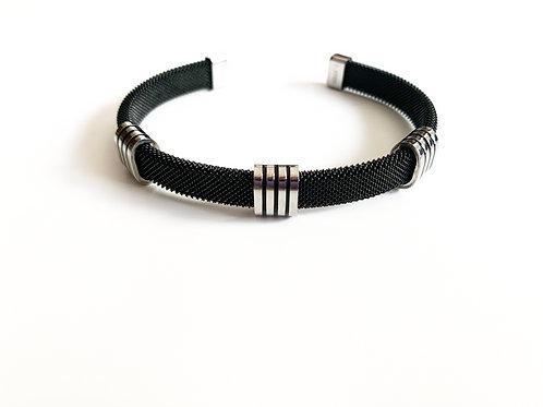 Dark Gray Stainless Accent Bracelet