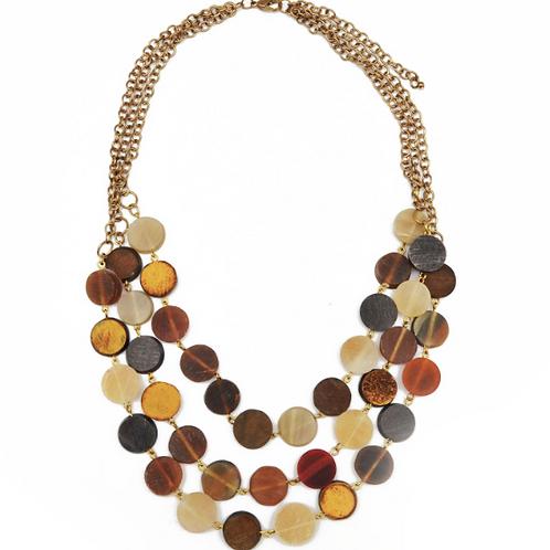 Layer Circular Bib Necklace