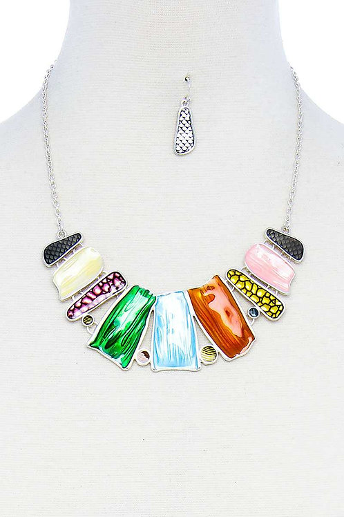 Multi Pendant Necklace Set
