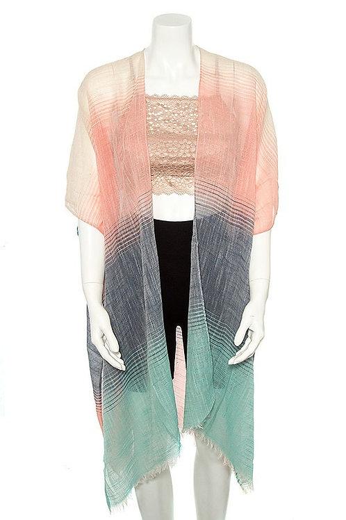 Multi-Color Kimono