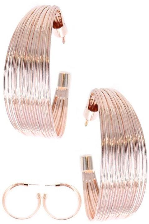 Wire Metal Hoop Earrings