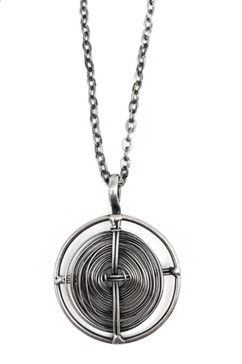 Silver Plated Brass Circle Necklace