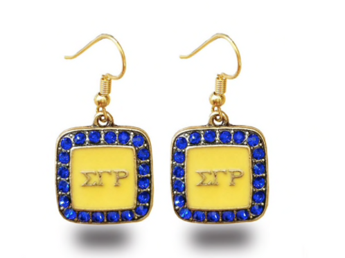 SGR Square Charm Drop Earrings
