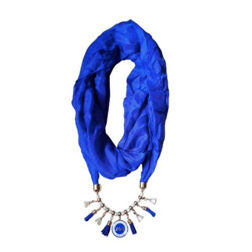 ZPB Drop Pendant Necklace Scarf