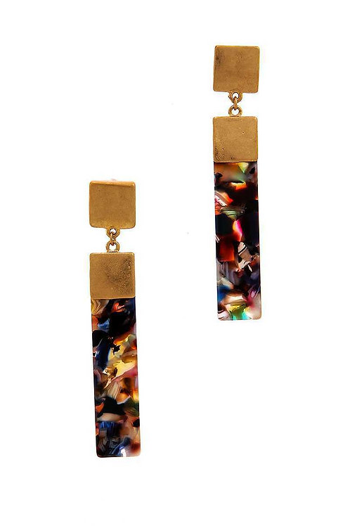 Chic Rectangle Drop Earrings