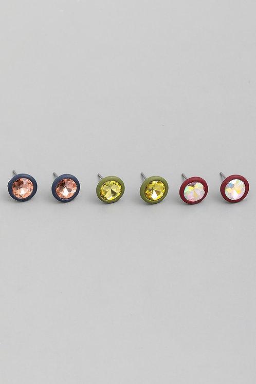 Chic Circle Stud Earrings