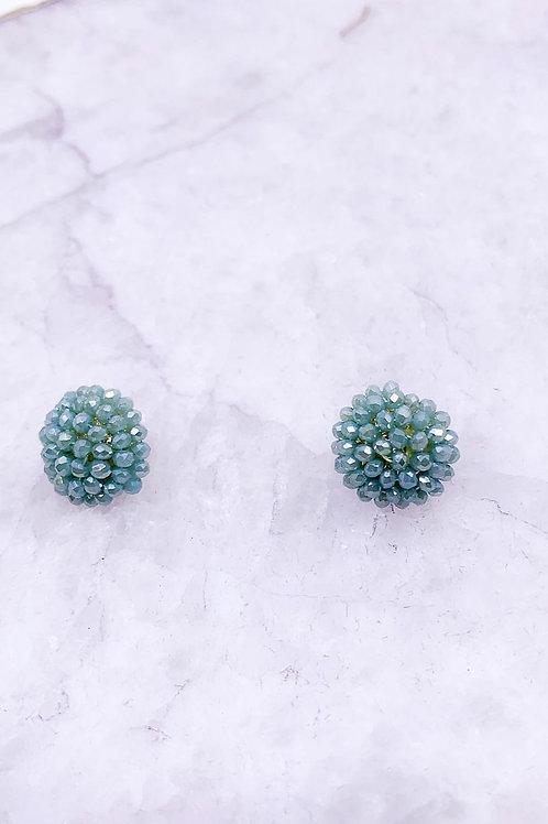Glass Bead Cluster Earrings
