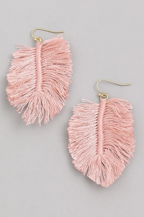 Feathered Drop Earrings