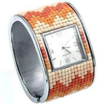 Mosaic Hinged Cuff Watch