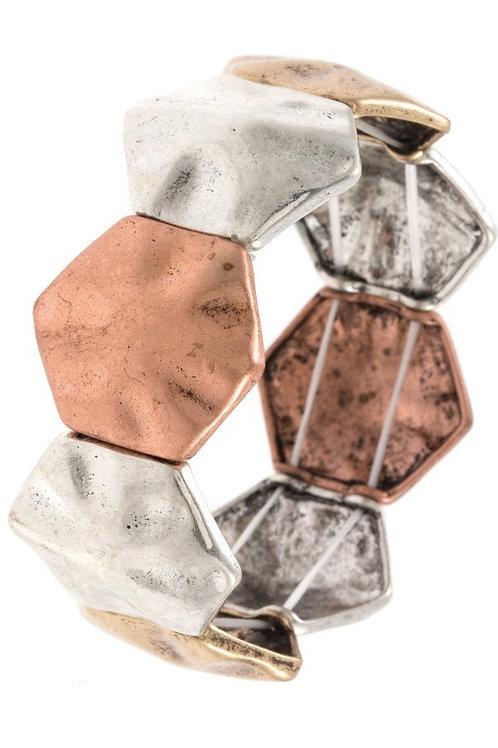 Hexagon Link Bracelet