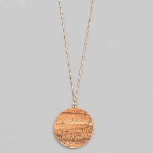 Wood Jasper Circle Necklace