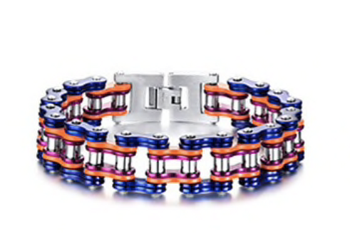 Omega Psi Phi Biker Bracelet
