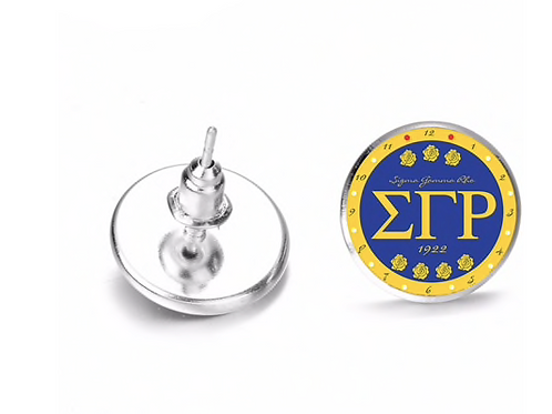 Sigma Gamma Rho Stud Earrings
