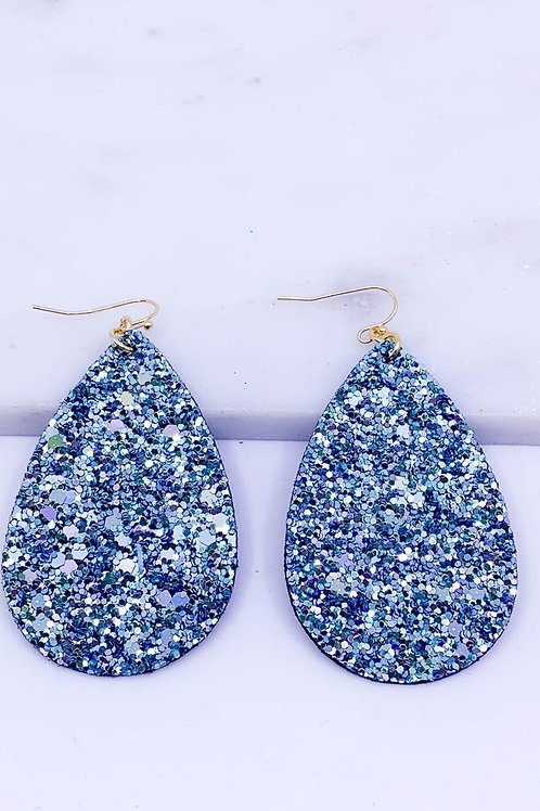 Glitter Encrusted Teardrop Earrings