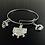 Thumbnail: Stainless Bangle Sorority Bracelet