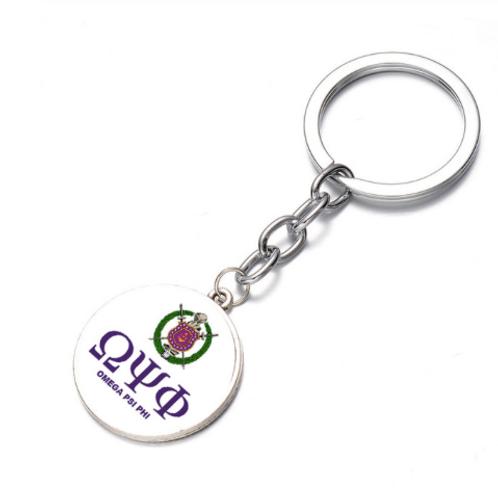 Omega Psi Phi Keychain