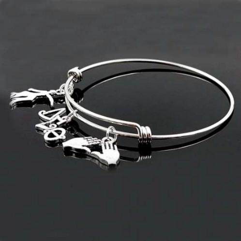 Stainless Bangle Sorority Bracelet