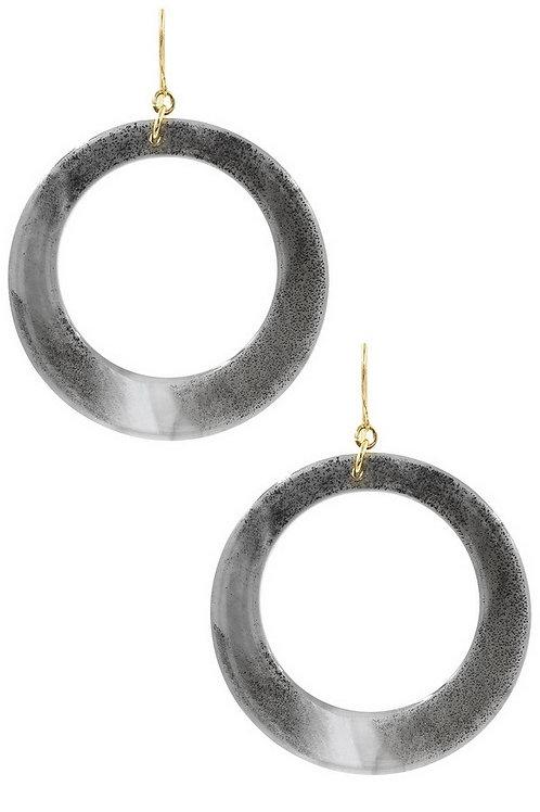 Celluloid Hoop Earrings