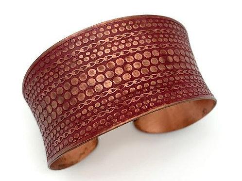 Red Patina Copper Bracelet