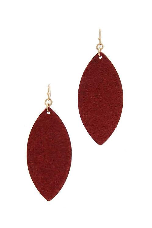 Pointed Oval Drop Earrings