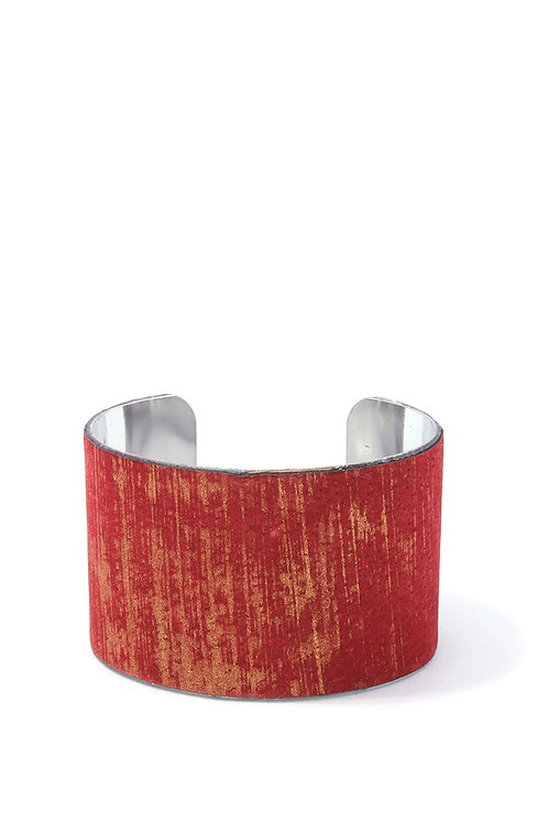 Splattered Accent Leather Cuff Bracelet