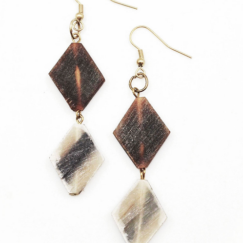 Natural Diamond Shape Earrings