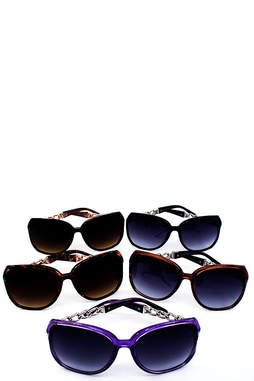 Modern Big Eye Wayfarer Sunglasses w/Microfiber Case Pouch