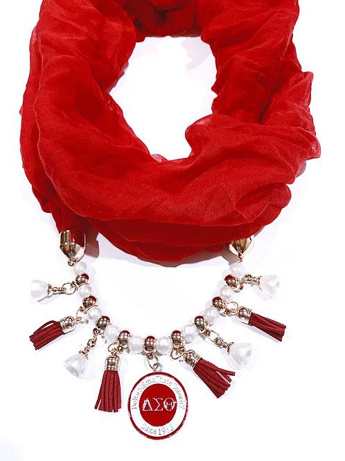 DST Drop Pendant Necklace Scarf